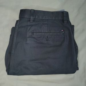 TOMMY HILFIGER Gray cotton Flat Front Short